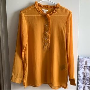 H&M Mustard Sheer Blouse